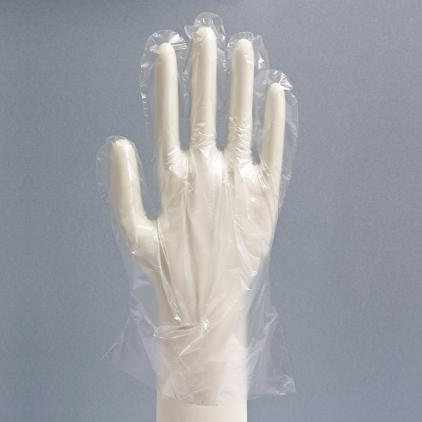 Polyethylene plastic gloves