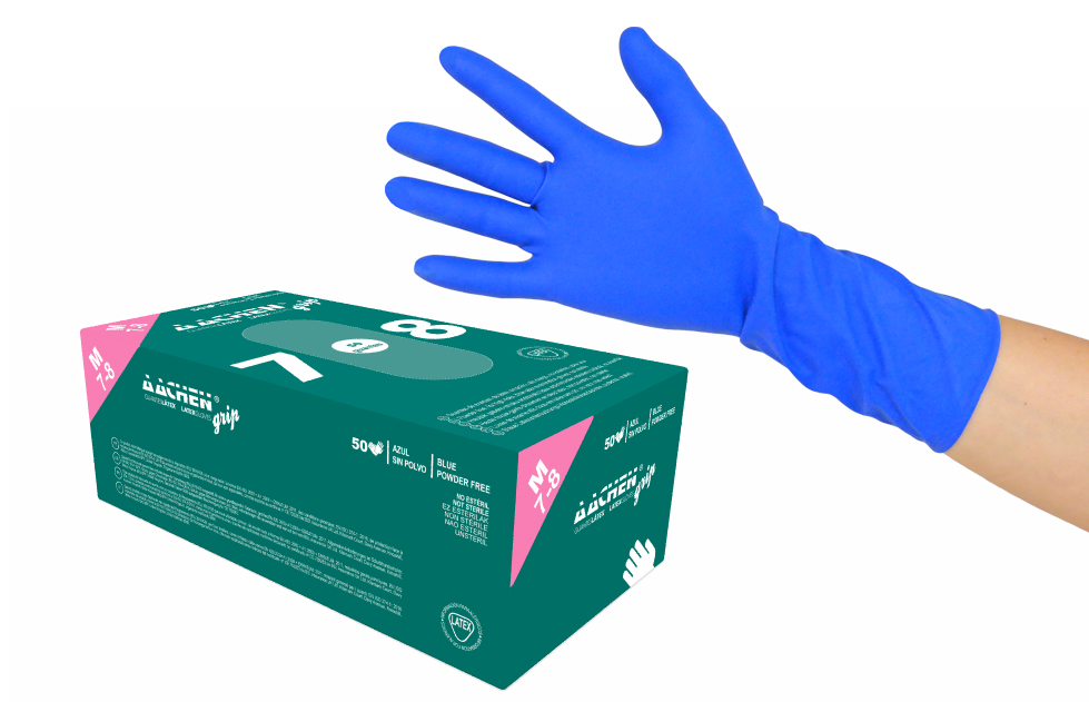 latex gloves aachengrip - disposable products  gloves and clothes wholesale