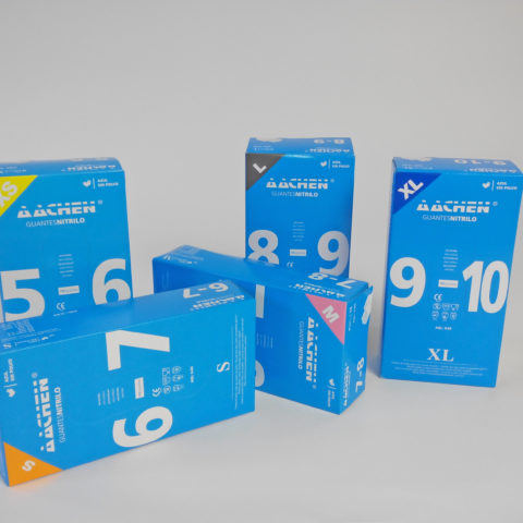 blue nitril gloves non sterile powder free