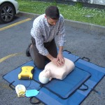 CV protection has installed a defibrillator