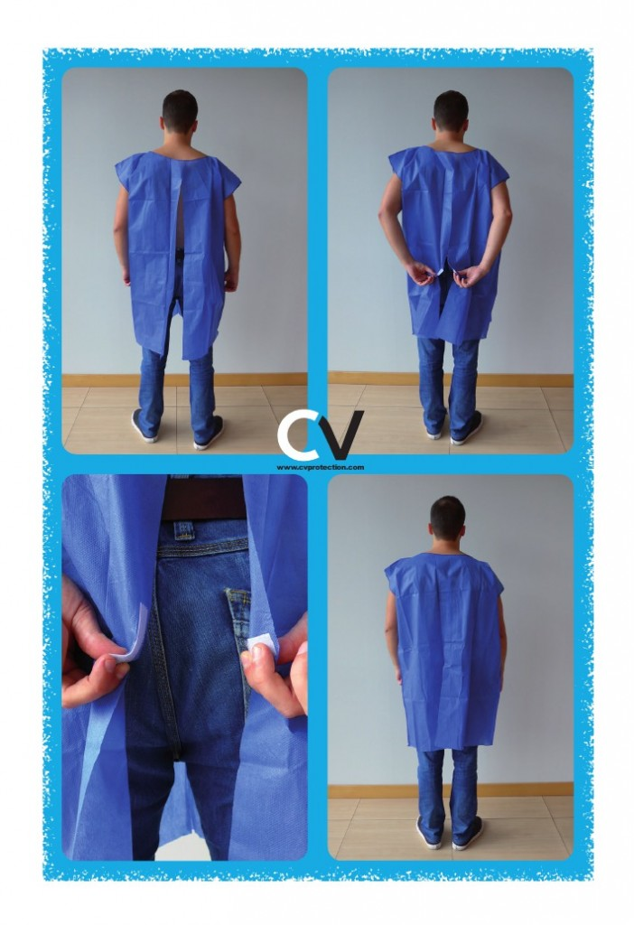 Isolation gown with velcro
