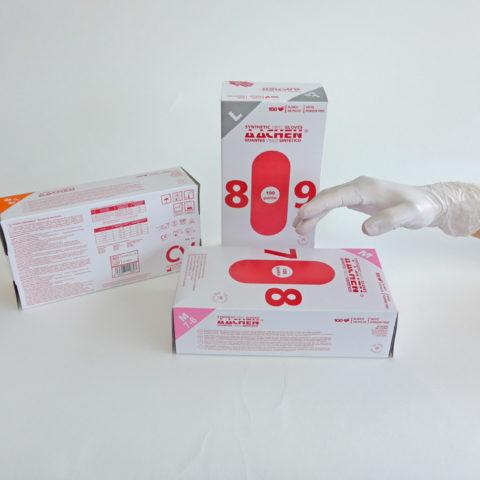guantes de vinilo sintético blanco