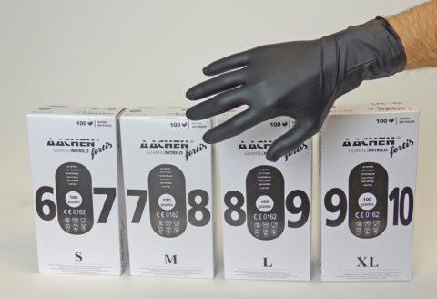 black nitrile glove aachenfeel